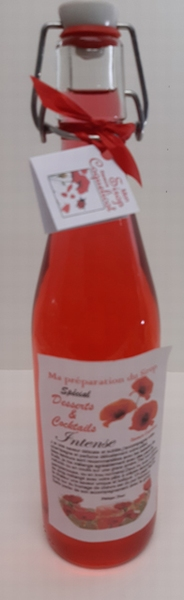 Sirop aux saveurs coquelicot 50 cl